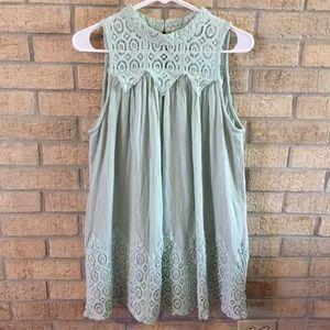 Adorable Mint Mini Dress Flowy